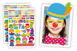 208 Crazy Clown Stickers