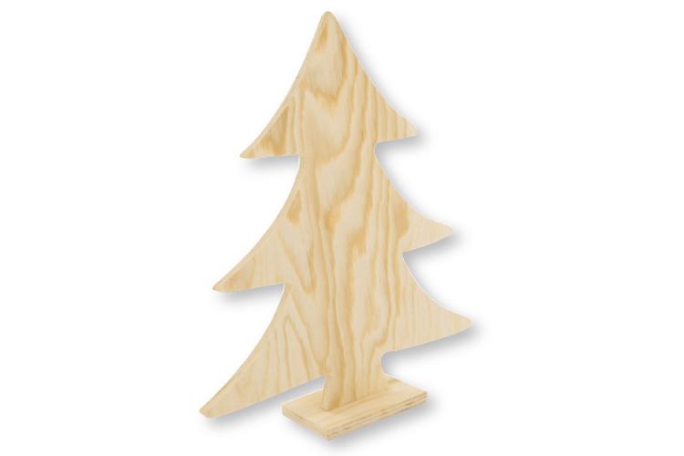 Sapin en bois naturel no l f tes 10 doigts - Sapin en bois a decorer ...