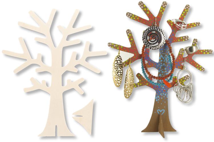 Arbre porte bijoux en bois divers kits cr atifs 10 - Fabriquer un arbre a bijoux ...