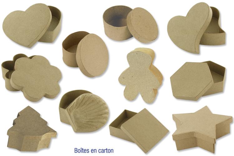Grand choix de bo tes en carton papier m ch bo tes - Boite en carton decoree ...