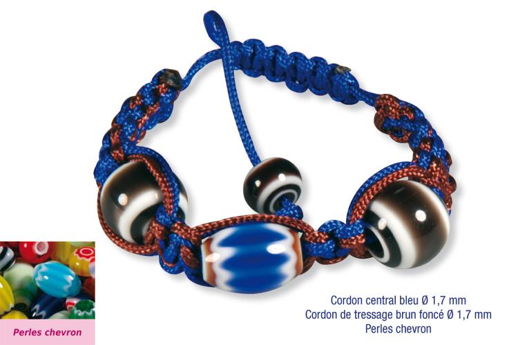 Shamballas avec des perles chevron shamballas cr er - Comment faire un bracelet avec des boutons ...