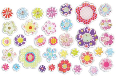 Stickers 3d scrapbooking carterie 10 doigts - Set de bureau fantaisie ...