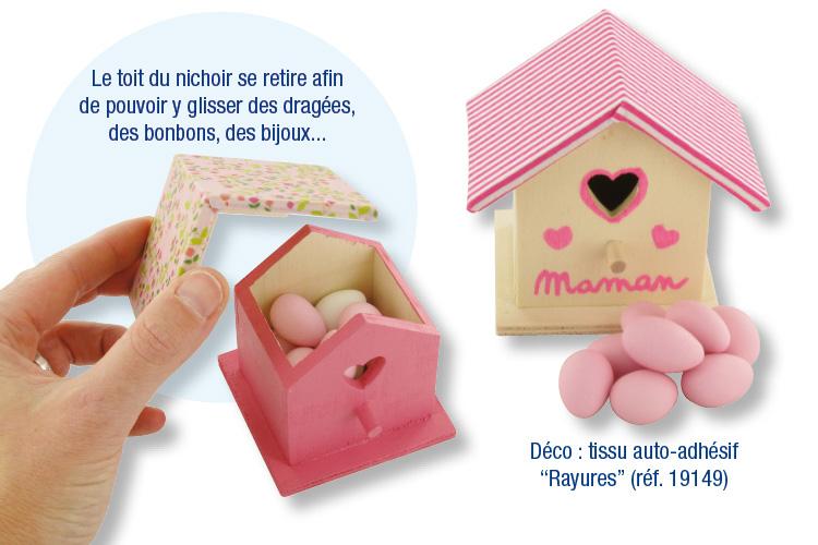 Nichoir En Bois A Peindre : chocolats bijoux hauteur du nichoir 8 cm le toit du nichoir en bois
