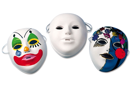 Masques d corer avec marqueurs permanents et peinture for Decorer un masque blanc