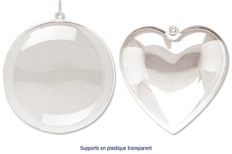 Formes de no l en plastique transparent d corer no l - Decorer des boules de noel en plastique ...