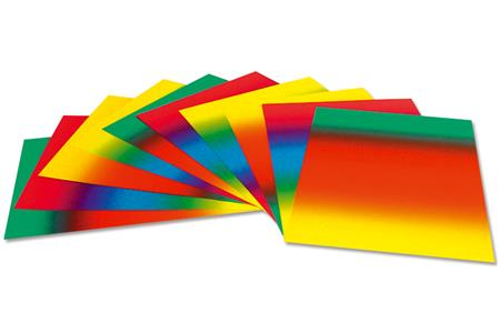 Set de 10 cartes Arc-en-ciel en dégradé de couleur