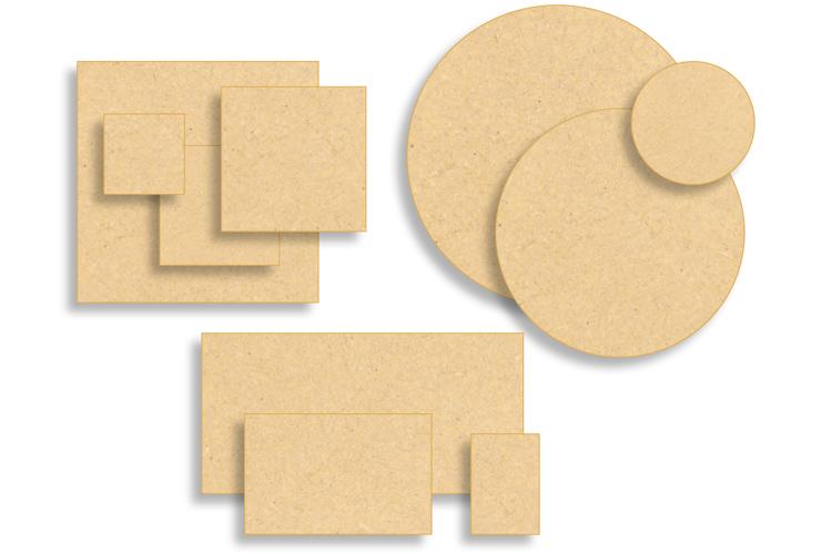 Supports plats en bois médium (MDF)  Supports pour mosaïques