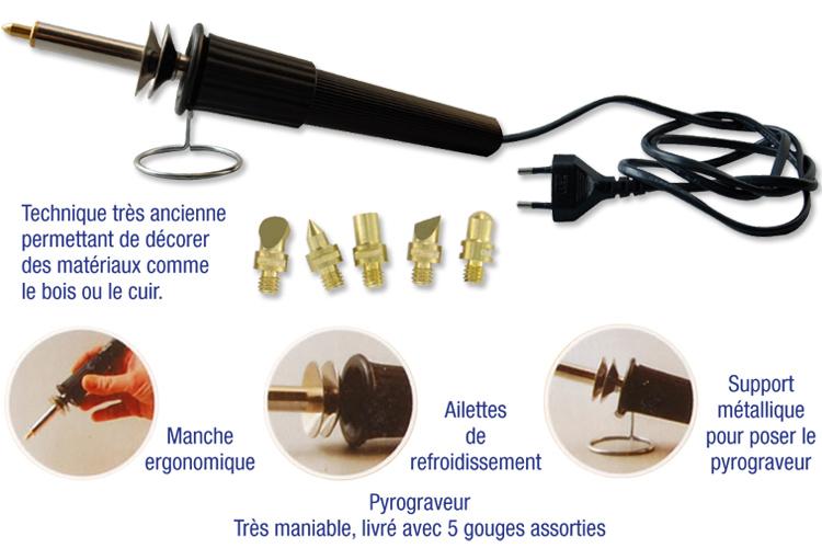 Pyrograveur : Pyrogravure : Activités arts plastiques : 10 Doigts