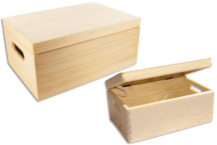 Bo te de rangement en bois bo tes et coffrets bois 10 doigts - Peindre une boite en bois ...