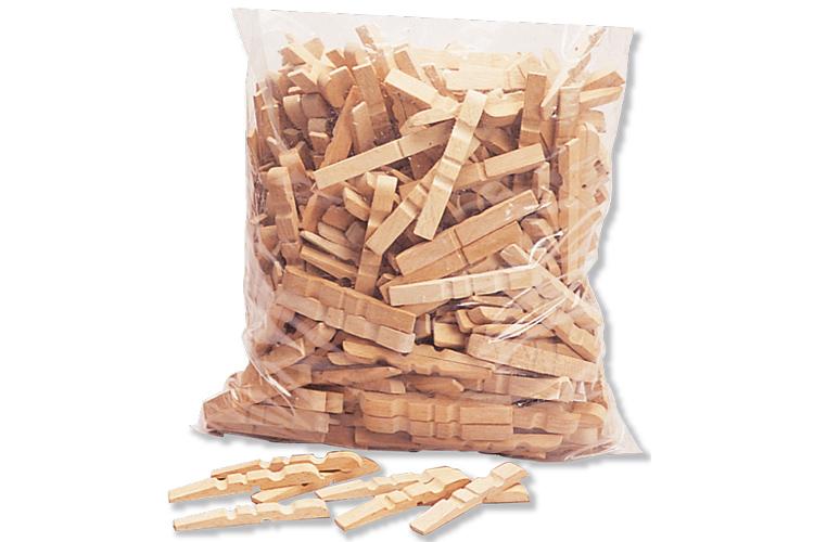 Set de 200 demi pinces linge 7 2 cm pinces linge naturelles pinces - Que faire avec des pinces a linge en bois ...