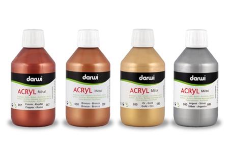 Peinture acryl m tal couleurs m tallis es brillantes et p tantes peinture acrylique for Peinture couleur argent