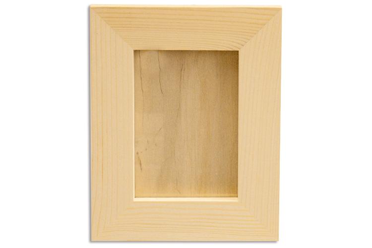 Cadre photo en bois avec vitre  Cadres, miroirs  Bois  ~ Cadre Photo En Bois
