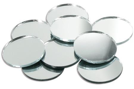 Sets de miroirs ronds en verre 2 5 5 ou 7 5 cm - Mosaique miroir autocollante ...