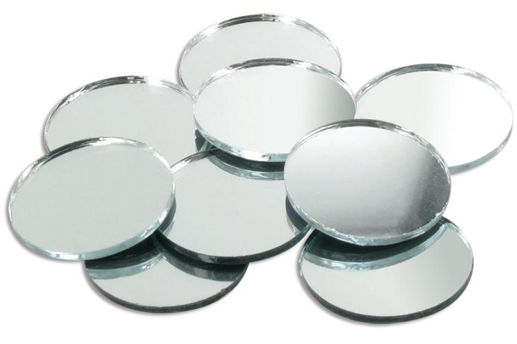 Sets de miroirs ronds en verre 2 5 5 ou 7 5 cm miroirs accessoires 10 doigts for Petits miroirs ronds