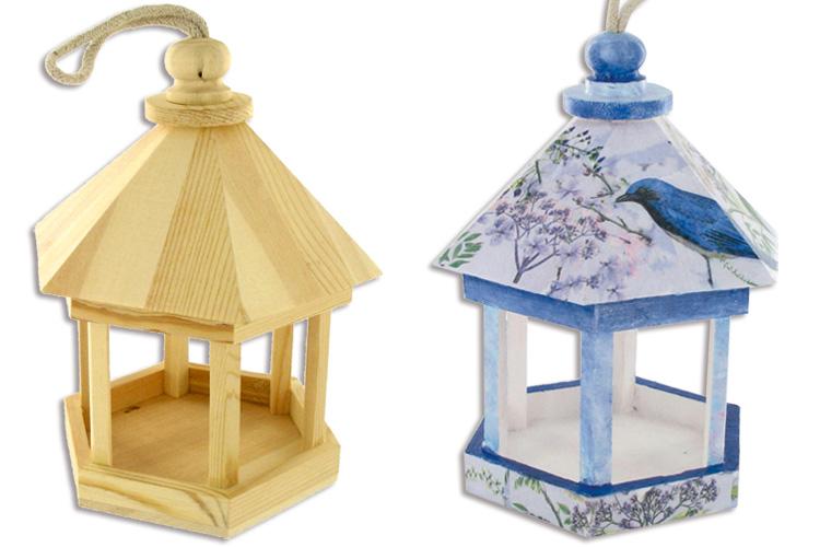 Nichoir En Bois A Peindre : en bois : Nichoirs, cages, mangeoire pour oiseaux : Bois : 10 Doigts