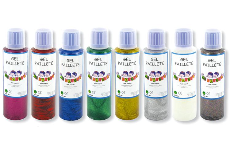 Gel paillet 10 doigts peinture paillet e peintures - Peinture transparente pailletee ...