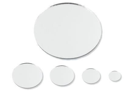Set de 8 miroirs ronds auto adh sifs en acrylique tailles - Miroir adhesif grande taille ...