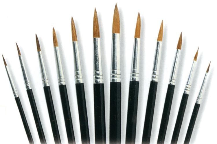 Sets de pinceaux poils de poney pinceaux pinceaux rouleaux spatules p - Nettoyer des pinceaux de peinture ...