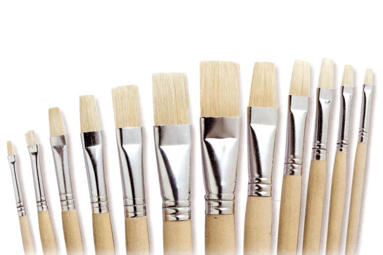 Sets de brosses plates en soie blanche brosses - Peinture effet soie ...