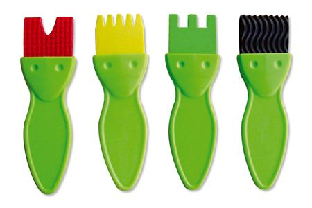 Set de 4 brosses fantaisie pour peindre accessoires for Set de bureau fantaisie