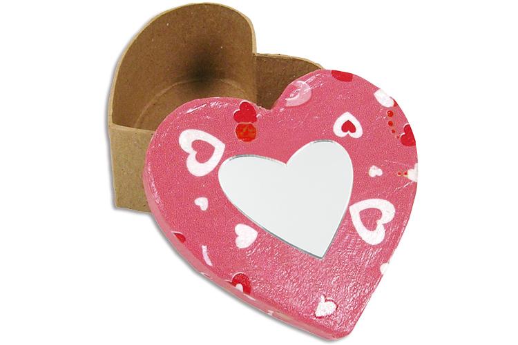 Bo te en copeaux de bois d co miroir coeur d co de la for Deco en forme de coeur