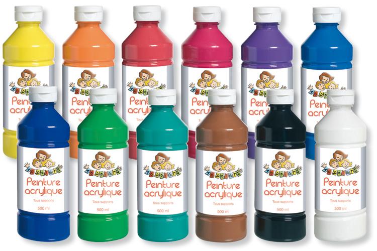 Peinture acrylique conomique flacon de 500 ml - Peinture pour fibre de verre glycero ou acrylique ...