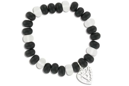 Kit de 6 bracelets Black and White