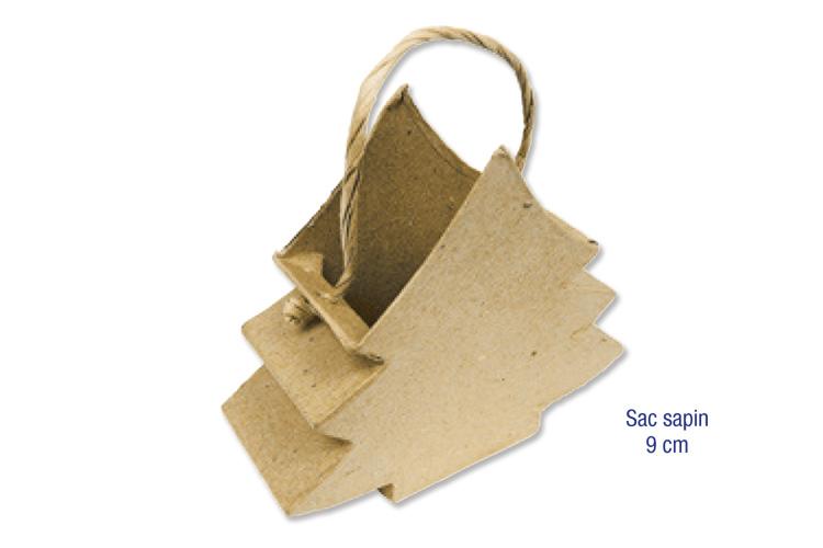 Sac sapin en carton papier m ch avec cordons pots for Sapin en carton a decorer