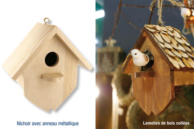 Nichoir En Bois A Peindre : Nichoir en bois, ? ? suspendre : Nichoirs, cages, mangeoire pour