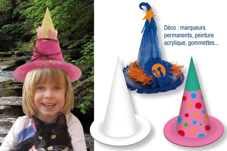 Chapeau de princesse ou sorci re d corer en carton - Chapeau en carton a decorer ...