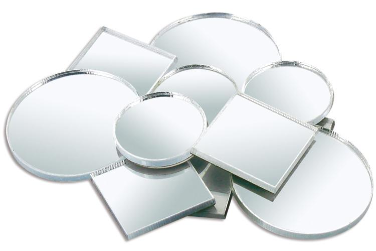 Set de 11 miroirs en verre ronds et carr s assortis miroirs accessoires 10 doigts for Petits miroirs ronds
