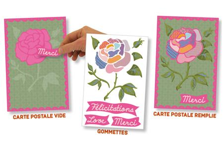 Set carte postale Rose